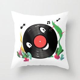 Vinyl Guy Throw Pillow