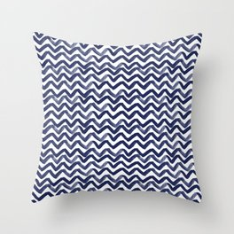 Zig Zag Waves Throw Pillow