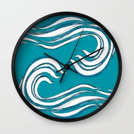 ocean wave beach coastal decor  Wall Clock