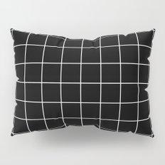 Black White Grid Pillow Sham