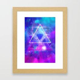 Space Vector 3 - Synth Galactic Vaporwave Framed Art Print