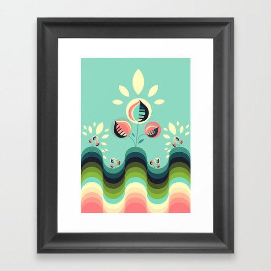 Happy Garden Framed Art Print
