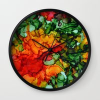 marley Wall Clocks featuring Marley by Claire Day