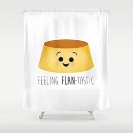 Feeling Flan-tastic Shower Curtain