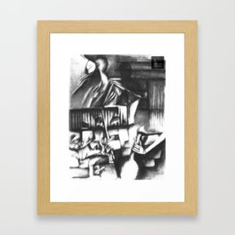 A half Shriek of Joy  Framed Art Print