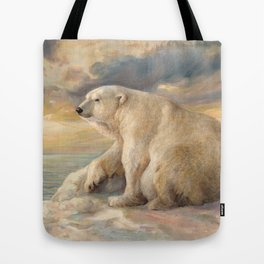 Polar Bear Rests On The Ice - Arctic Alaska Tote Bag