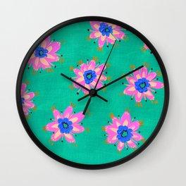 Key West Rose Wall Clock