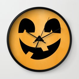 Silly Jack-O-Lantern Wall Clock