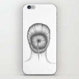 UPDO I - pencil illustration iPhone Skin