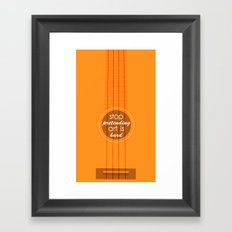 Stop pretending art is hard (orange) Framed Art Print