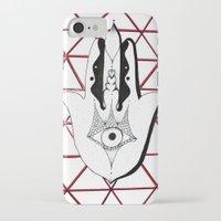 hamsa iPhone & iPod Cases featuring Hamsa by Sofia Bernikova
