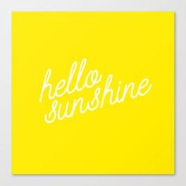 Hello Sunshine Script Canvas Print