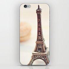 Macaron and Mini Eiffel Tower iPhone & iPod Skin