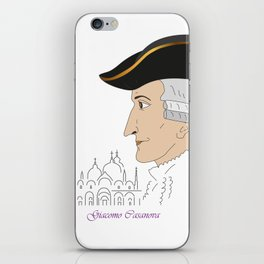 Giacomo Casanova iPhone Skin