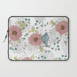 Blue Bird and Peonies Laptop Sleeve