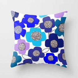 PopUP FlowerStem_MultiCool Throw Pillow