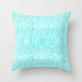 Abstract modern teal white watercolor brushstrokes pattern Throw Pillow