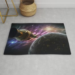 Space travel around planet Rug