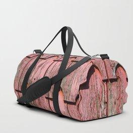 Red shingle Duffle Bag