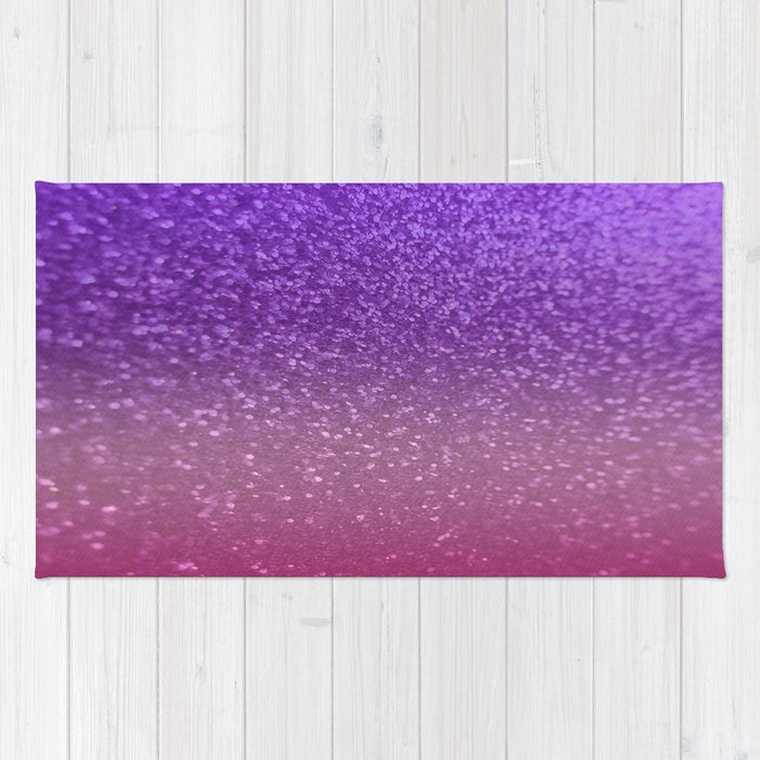 Gradient Glitter Purple Pink Sparkle Rug By Xjen94