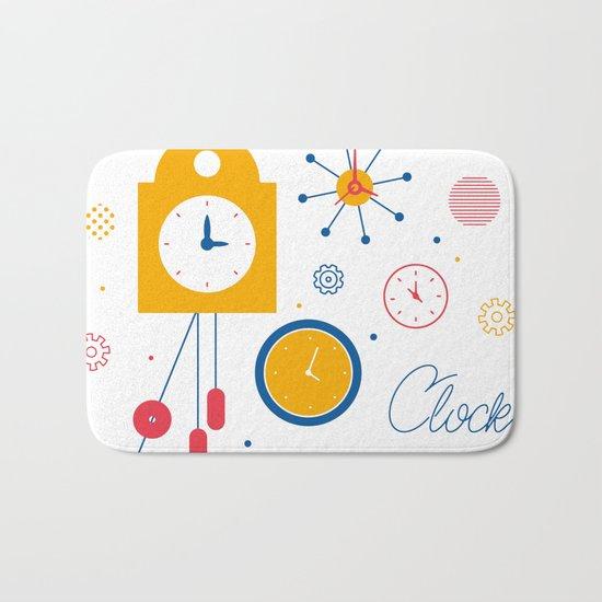 Clocks Bath Mat