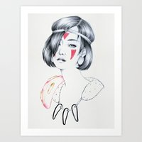 mononoke Art Prints featuring Mononoke by Marika Tamiazzo