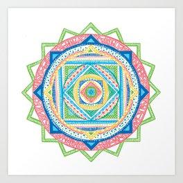 A Colourful Harmony #3 Art Print