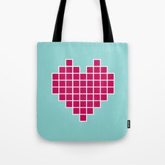 Pixelated Heart Tote Bag