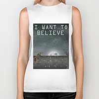 i want to believe Biker Tanks featuring I Want To Believe by Conceptualized