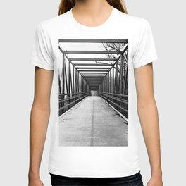 Bridge to Nowhere Black and White Photography T-shirt