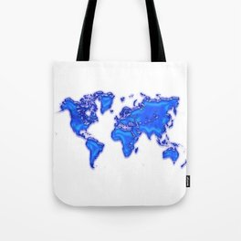 Plastic world map Tote Bag
