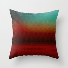 Red Laces Throw Pillow