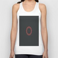 burgundy Tank Tops featuring Burgundy Disarray by Jane Lacey Smith