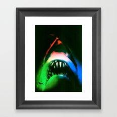 SHARK!  POWER SURGE Framed Art Print