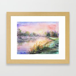 The Color Of The Sky Framed Art Print