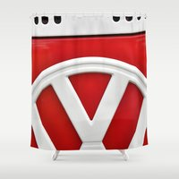 vw Shower Curtains featuring VW by Jamie Klock