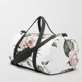 Faded Pink Rose Duffle Bag