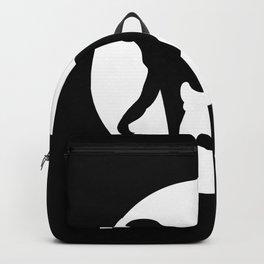 Monkey Circle Motif Backpack
