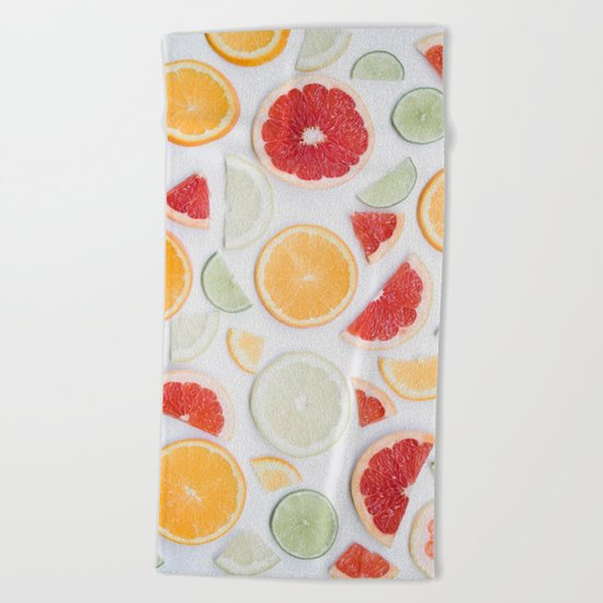 citrus fresh Beach Towel