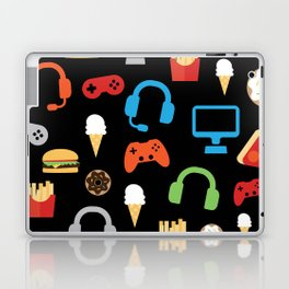 Video Game Party Snack Pattern Laptop & iPad Skin