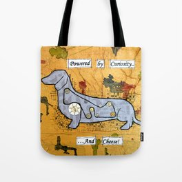 Dachshund - Powered by curiosity Tote Bag