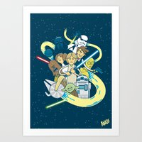 starwars Art Prints featuring StarWars by ANDY