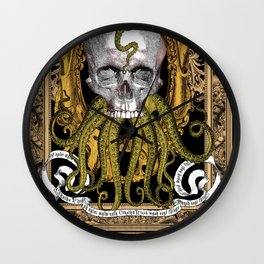 Cthulhu - H.P. Lovecraft Vintage Gothic Skull Inspiration Wall Clock