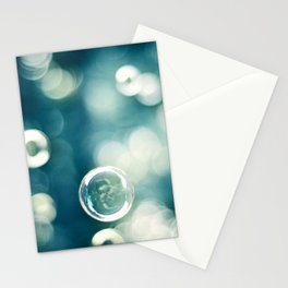 Bubble Photography, Teal Bathroom Art, Turquoise Aqua Laundry Photo Stationery Cards