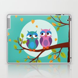 Sleepy owls in love Laptop & iPad Skin