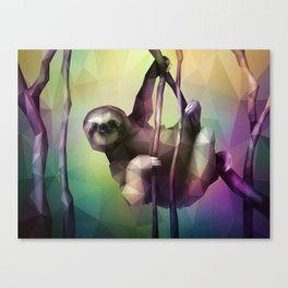 Sloth (Low Poly Multi) Canvas Print