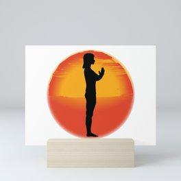 Salutation Yoga Pose Mini Art Print