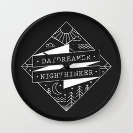 daydreamer nighthinker Wall Clock