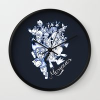 digimon Wall Clocks featuring Digimon Memories by Cursed Rose