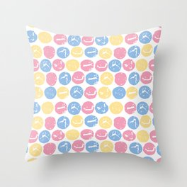 Pastel Bubble Wrap Throw Pillow